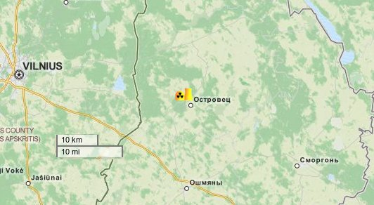 nuclear map of Belarus, Ostrovets section